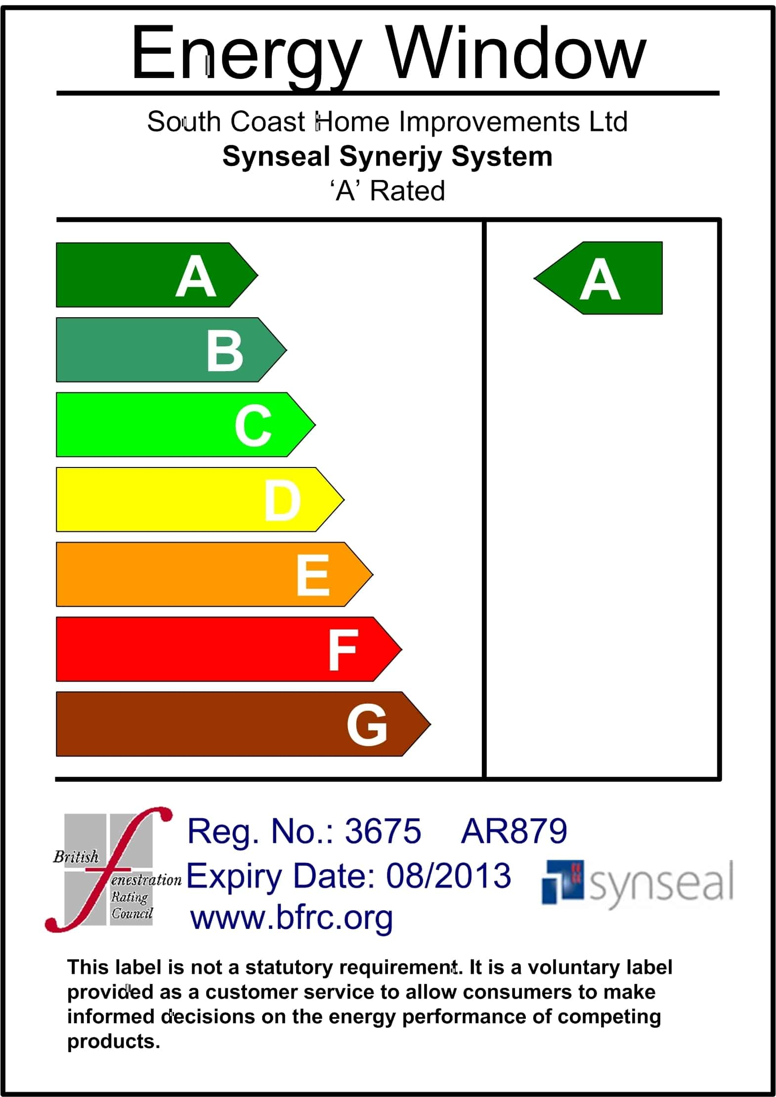 Synerjy A Rated Label