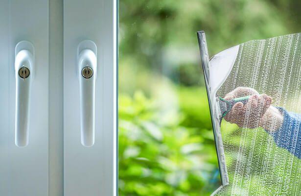Cleaning UPVC windows